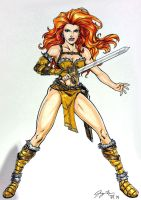 Red Sonja Con Sketch by jetcomics