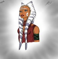 AHSOKA-GROWN UP- COLORED VERSION by N-Y-N-A