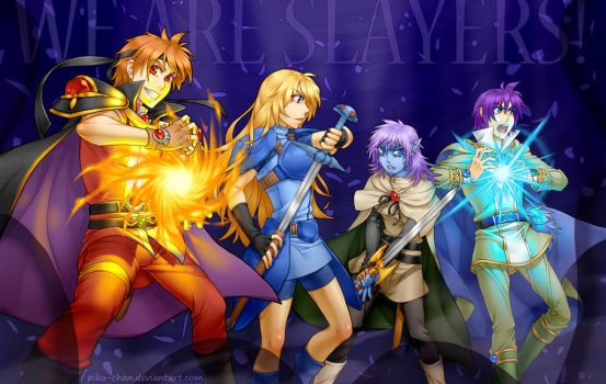 Slayers - WE ARE SLAYERS by piku-chan