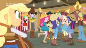 The girls dancing in cowgirl outfits. by Starman1999