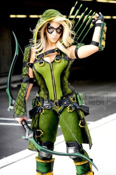Green Arrow - Oliver Queen- Injustice by Its-Raining-Neon