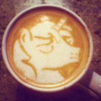 Shining Armor latte by CappuccinoFrosting