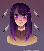 Yuri from Doki Doki Literature Club by Cinnamoochii