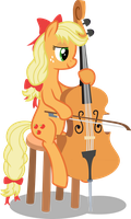 Applejack playing cello by MacTavish1996 by MacTavish1996