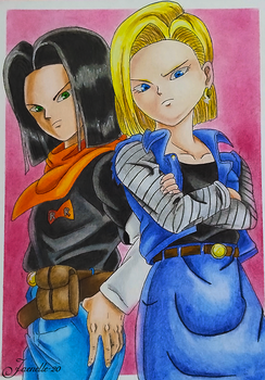 Androids #17 and #18 by Jaenelle-20