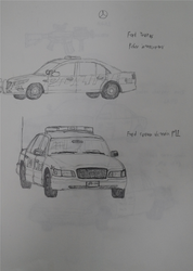 American Police car Practice 1 by sunung0317