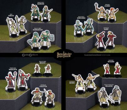 Gender-Variant Fantasy RPG Miniatures Set by Pasiphilo