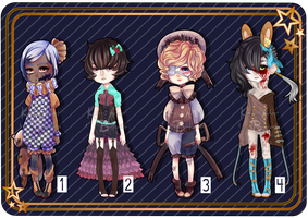 [CLOSED] Dark Circus Collab by kimisu-adopt