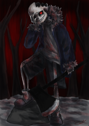 Want some help? - Horrortale Sans by NinaHolmes