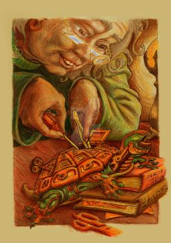 Story Illustration: The Watchmaker's Gift by sethness