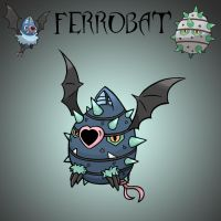 Pokemon Fusion - Ferrobat by fullhex