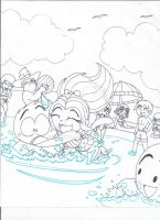 Xiaolin Beach (uncolored) by XSreiki772