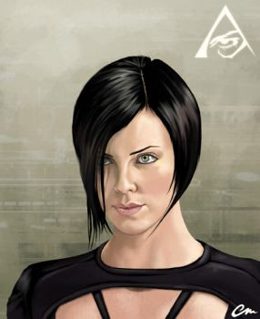 Charlize Theron as Aeon Flux by chrismickens