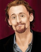 Tom Hiddleston_silly face 2 by WisesnailArt