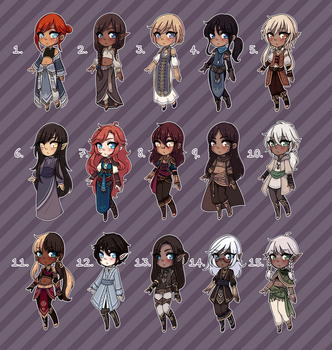 [Open 6/15] Fantasy Adopts 20 by princesawyer