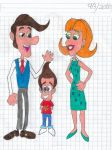 Jimmy Neutron and his parents, Hugh and Judy by matiriani28