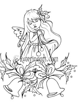 Christmas Bells Coloring Page by Katerina-Art