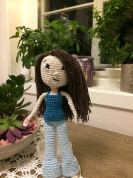Crochet doll - Adelheid by Anni-Frid