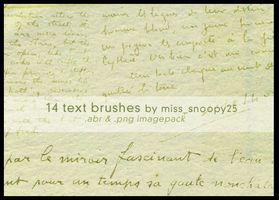 text brushes by misssnoopy25