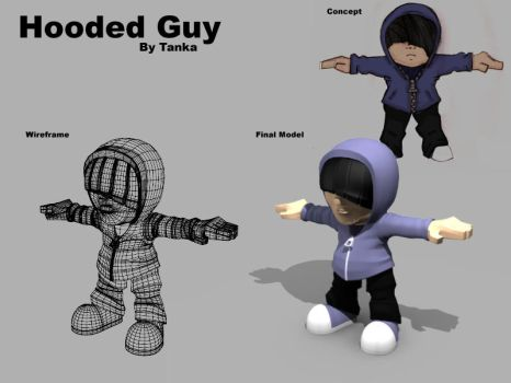 3D Hooded Guy by tanka2d