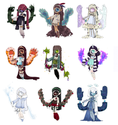 LulliLove Xynthii Collab adopts! OPEN by Tenshilove