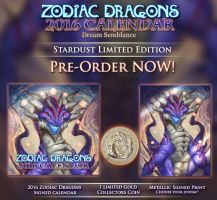 PRE-ORDER NOW! 2016 Zodiac Dragons Stardust by The-SixthLeafClover