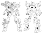 MG Gundam Heavyarms ver. EW Stencil by CommanderAlpha
