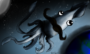 Mustache Squid. by TheDovahBrine