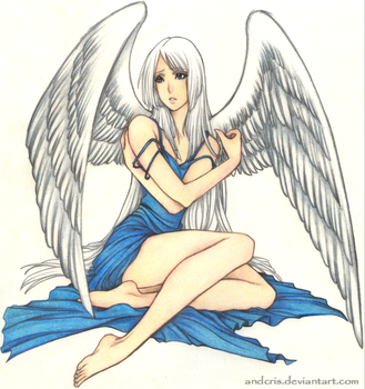 Angel - colored pencil by AndieCris