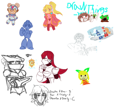 Weekend Drawpile 10 Happy little trees by Essai