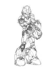 megaman tribute-sketch by Ntocha