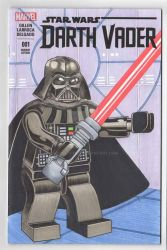 Lego Darth Vader Sketch Cover by rodneyfyke