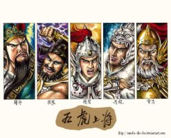 The Five Tiger Generals. by Amelie-the-Fox