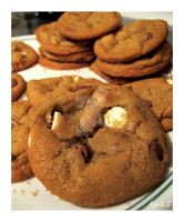 Triple Chocolate Chip Cookies by AdmiralAngela