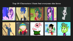 Top 10 Characters  I Hate BUT others Like by XaldinWolfgang