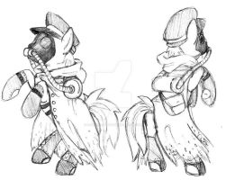 2nd Fallout Pony Sketch Commision by Saij-Spellhart