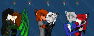 Merry (Early) Christmas! Zickehh and Metallicbeats by RockieTheWolf25