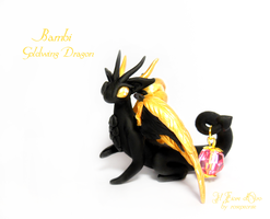 Bambi, Goldwing Dragon with lantern by rosepeonie