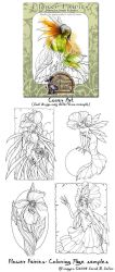 Flower Fairy - Coloring Book by MisticUnicorn