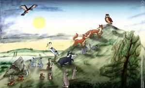 The Animals Of Farthing Wood by FreyFox
