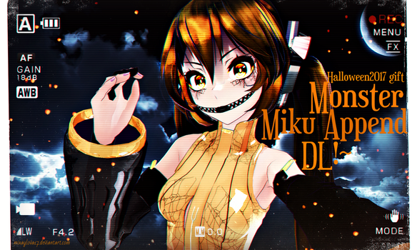 .:Monster Append Miku DL!~ (Halloween2017 gift):. by mixaylova17