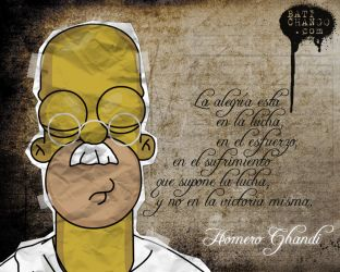Homero Ghandi by batichango