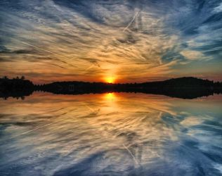 Sunset Water Reflection  FREE  S T O C K by AStoKo