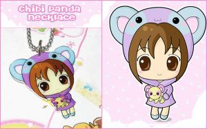 Chibi Panda Girl Necklace by bapity88