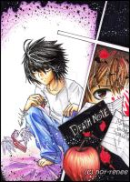 : Death Note : by nor-renee