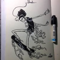 Inktober -4 Shredding by MFMugen