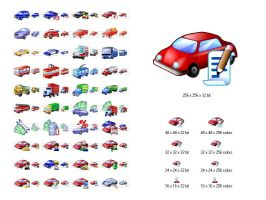 Car Icon Library by Ikont