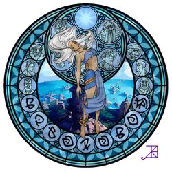 Stained Glass: Kida -Take 2- by Akili-Amethyst