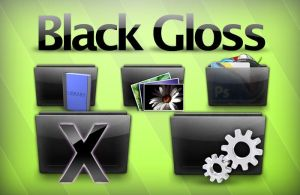 Black Glossy Icon Set by thepm34