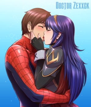 Lucina and Spiderman by DoctorZexxck